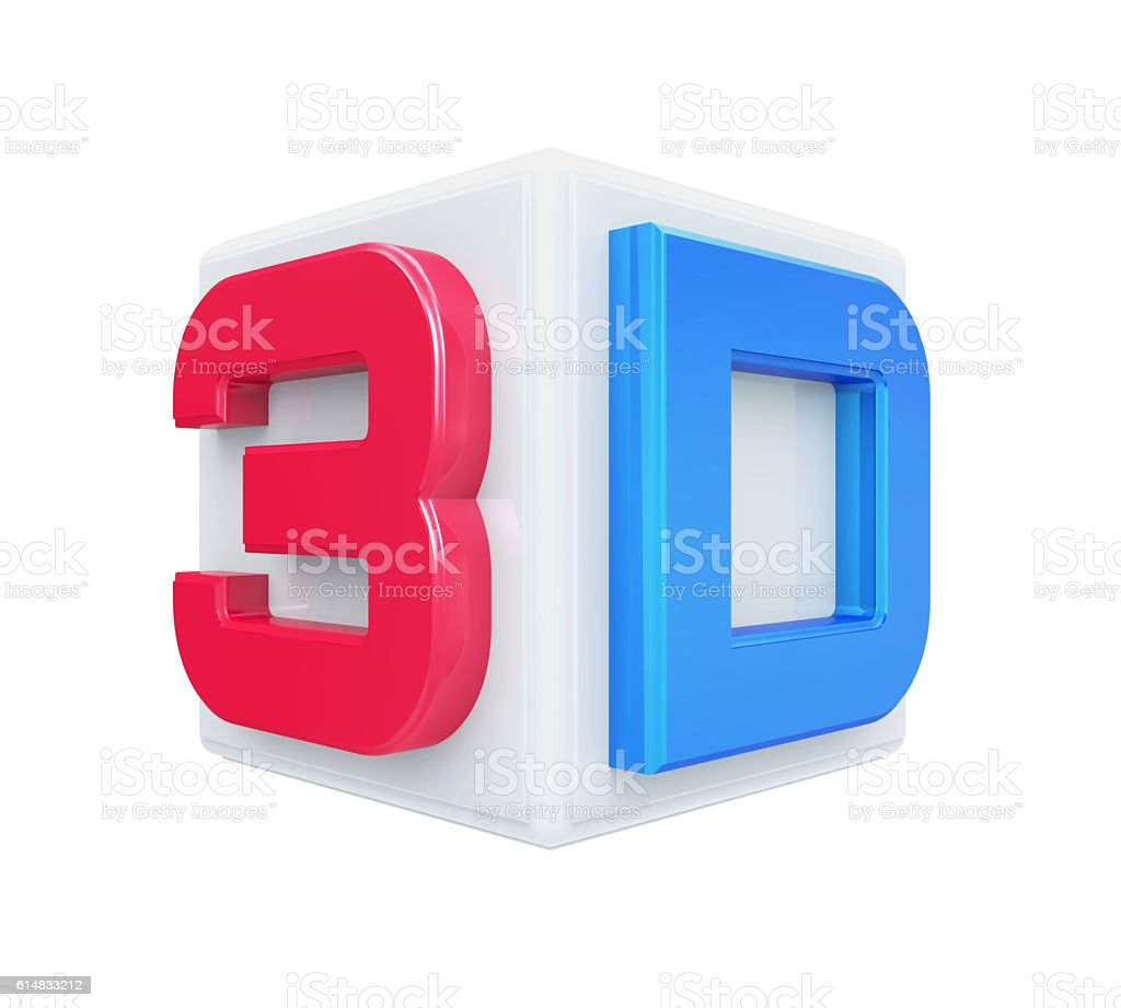 3D Cinema Logo stock photo