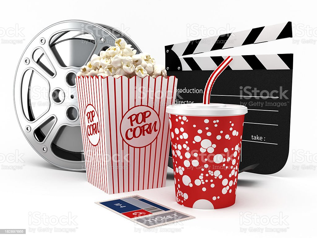 Cinema objects royalty-free stock photo