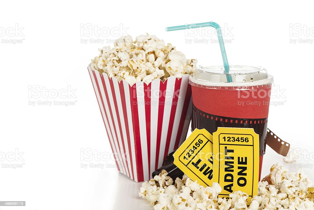 Cinema objects stock photo