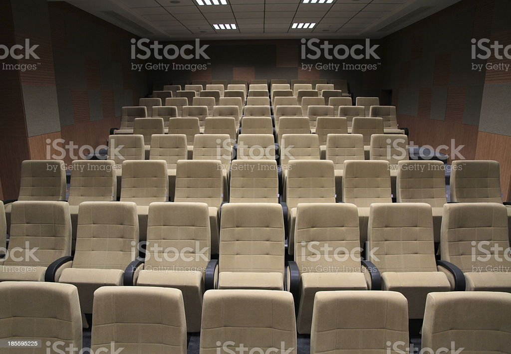 Cinema or theater auditorium stock photo