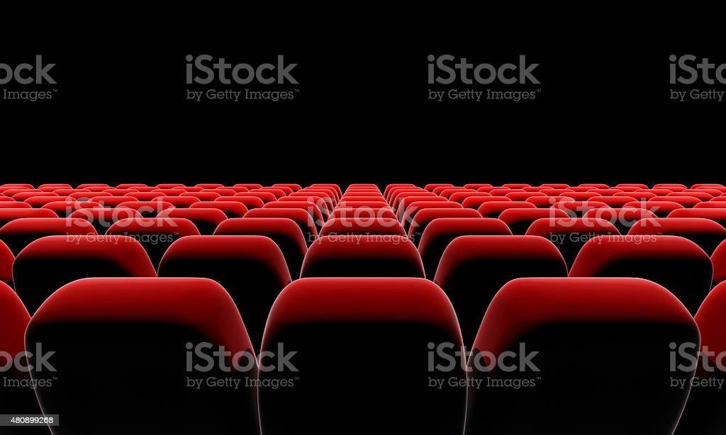 Cinema or theater seats. stock photo