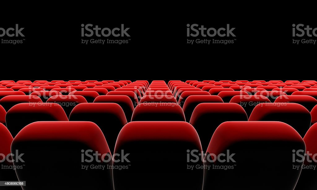 Cinema or theater seats. stock photo