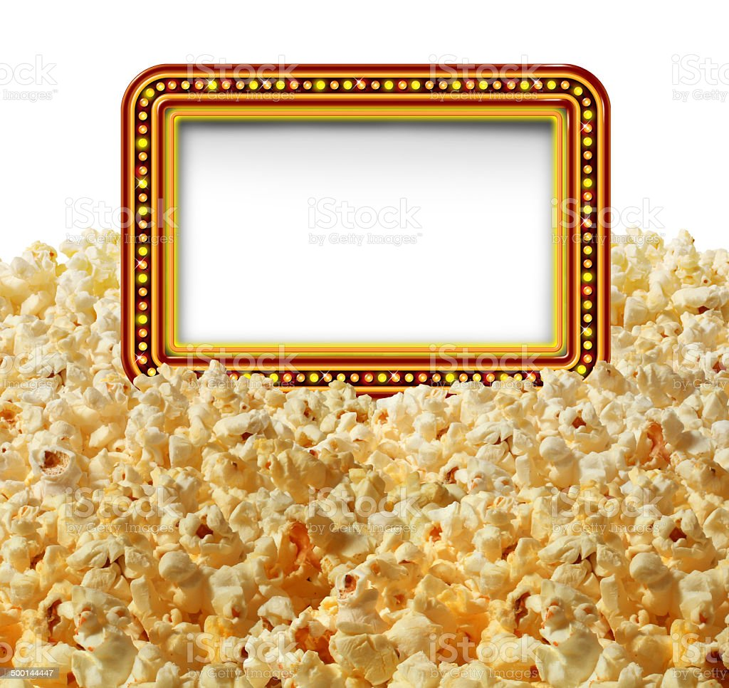 Cinema Popcorn Sign stock photo