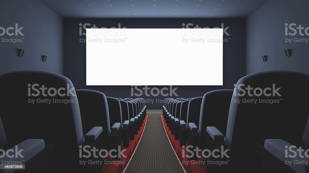 Cinema Screen stock photo