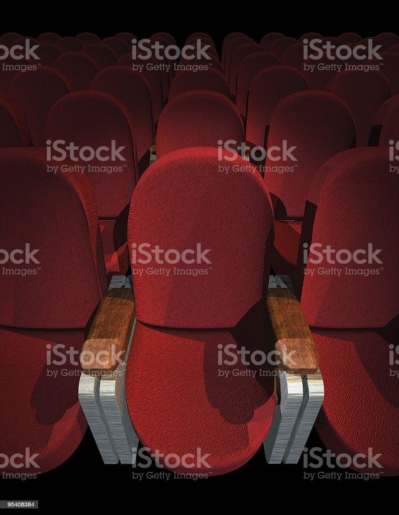 Cinema Seat royalty-free stock photo