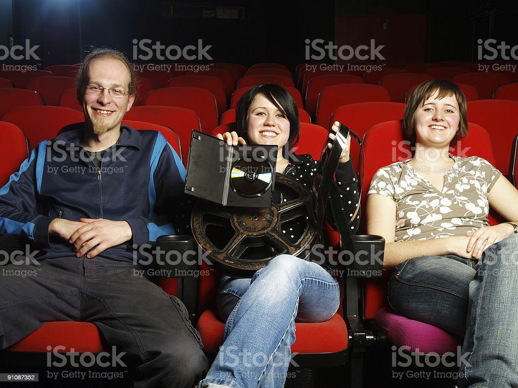 Cinema Series - Film Reel And DVD royalty-free stock photo