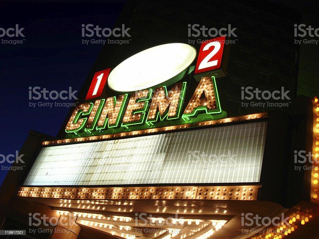 Cinema Sign Blank stock photo