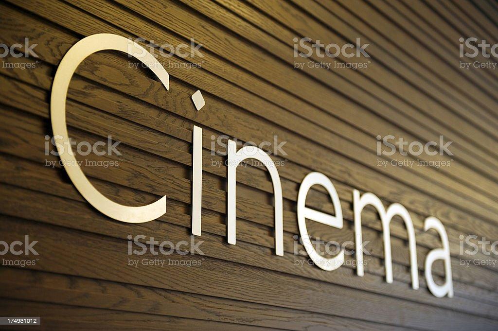 Cinema Sign stock photo