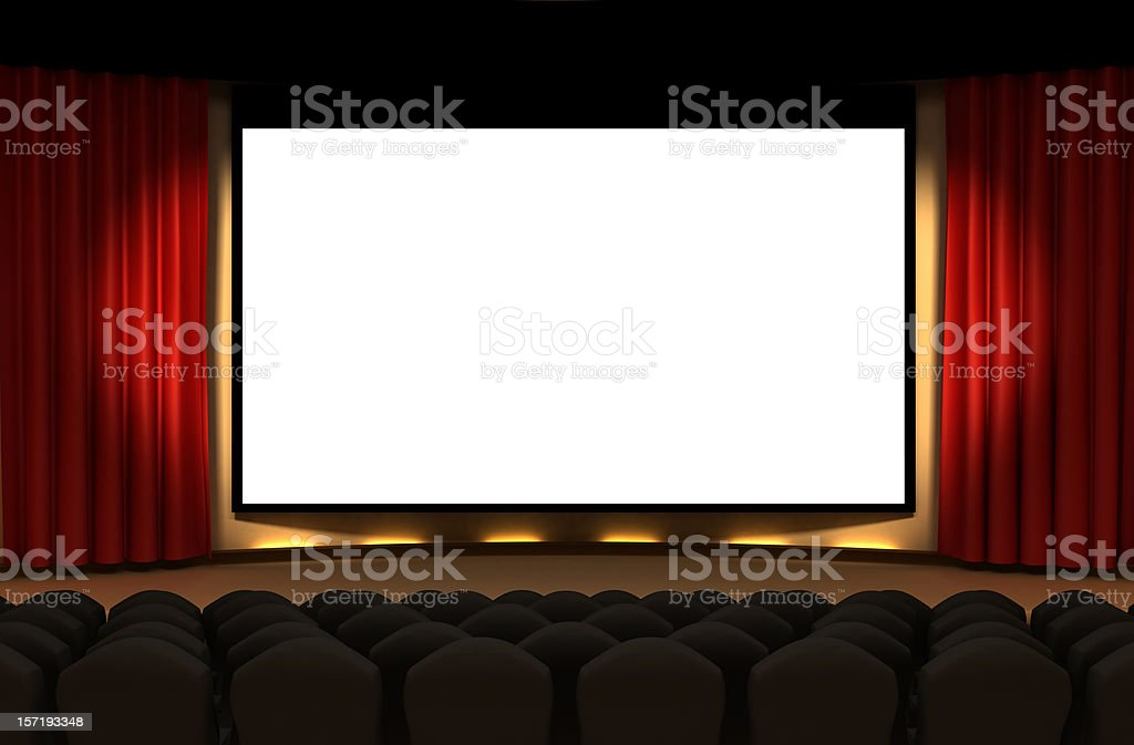 Cinema stage stock photo