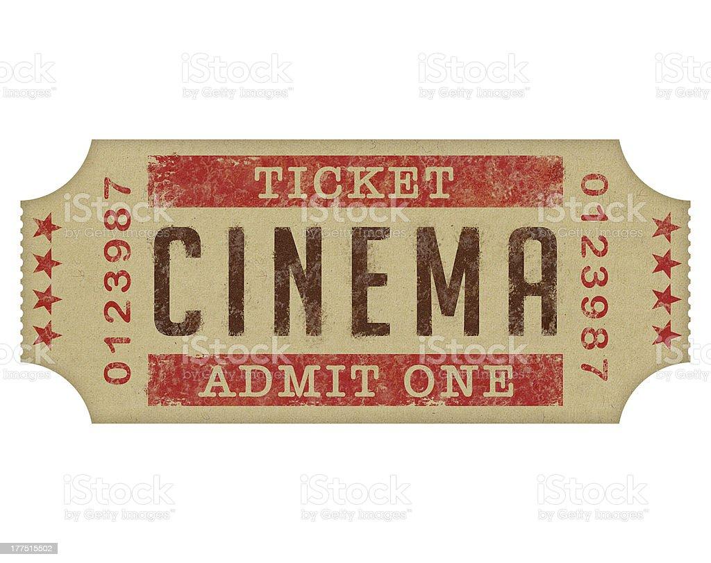 Cinema Ticket royalty-free stock photo