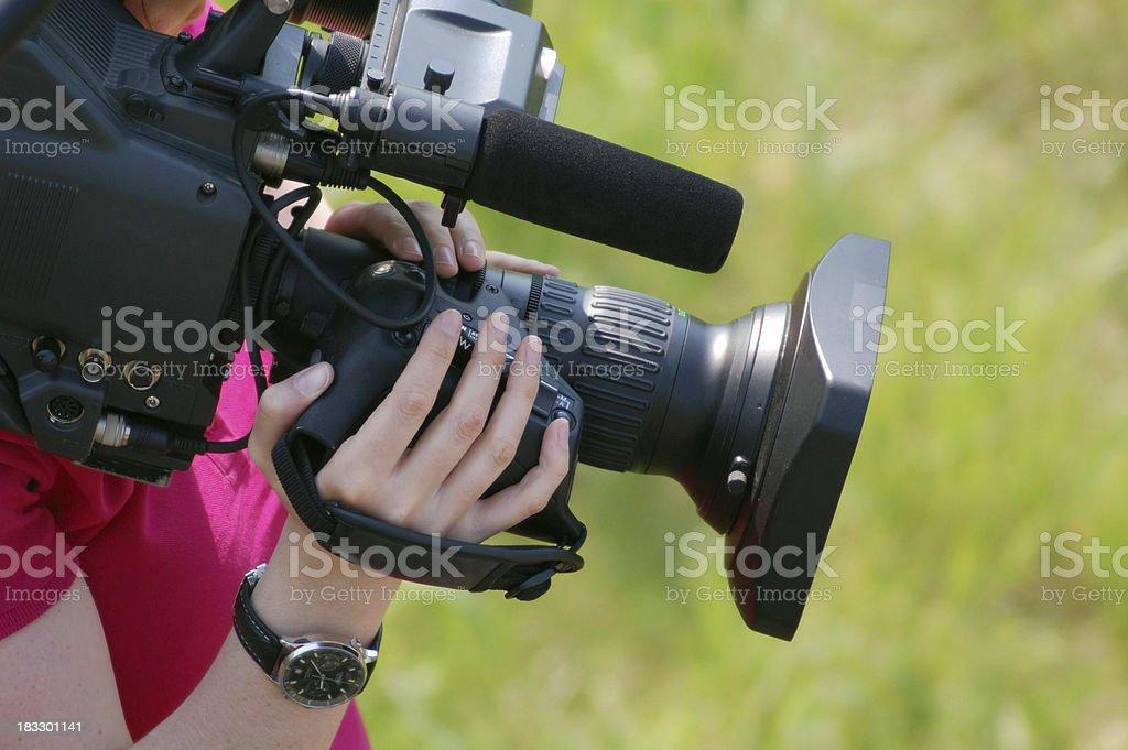 cinematographer royalty-free stock photo