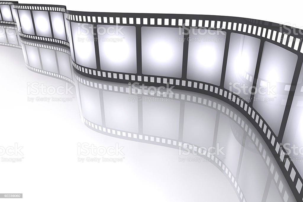 Cinematographic industry filmstrip concept stock photo