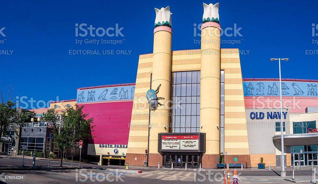 Cineplex movie theatre at Chinook Centre mall stock photo