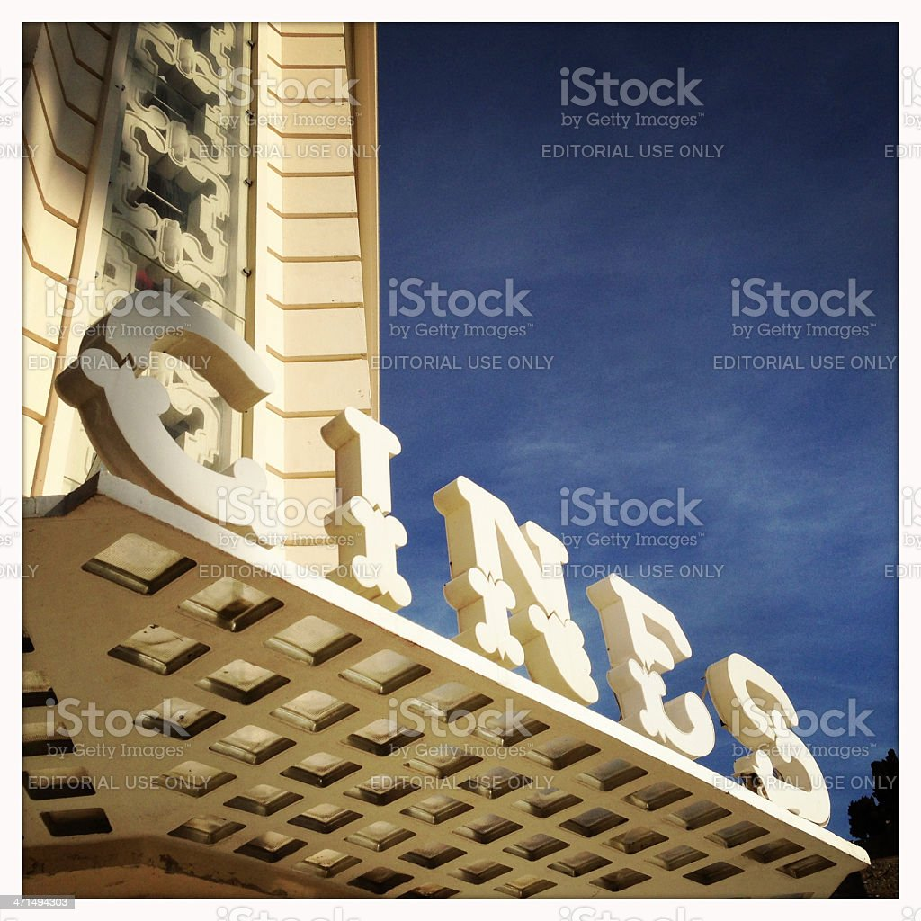 Cines Sign royalty-free stock photo