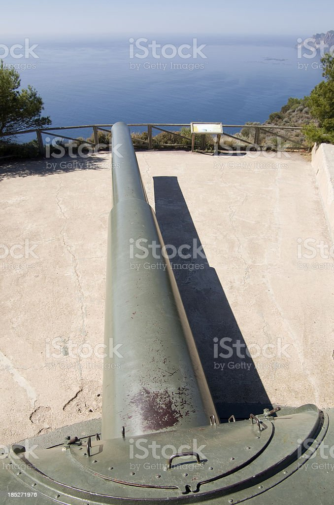 Cinezas Battery north of Cartagena in Murcia Spain stock photo