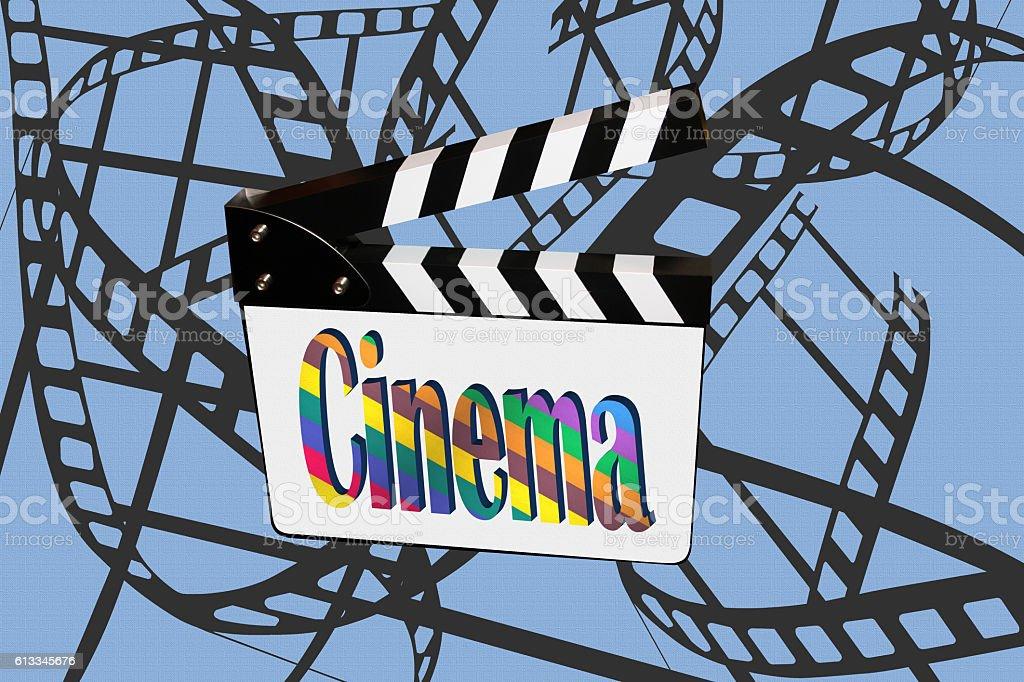 Cinéma Tournage Film stock photo