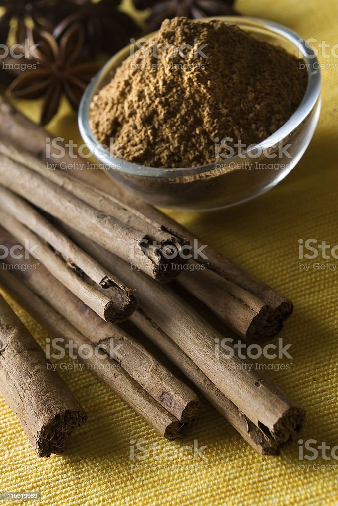 Cinnamon and anis star royalty-free stock photo
