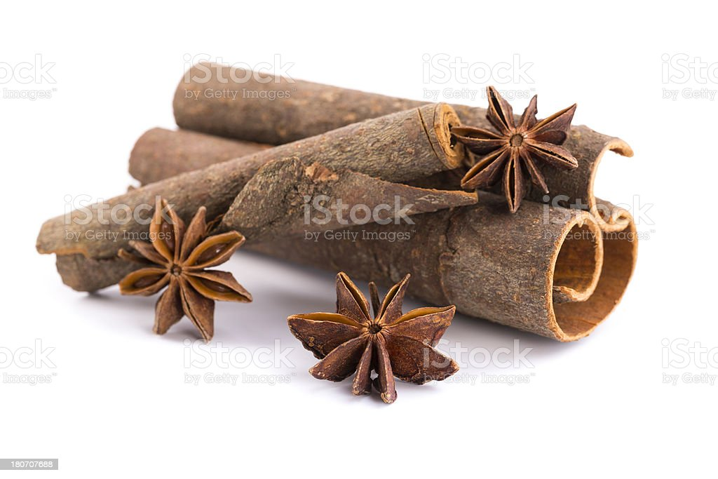 cinnamon and anise royalty-free stock photo