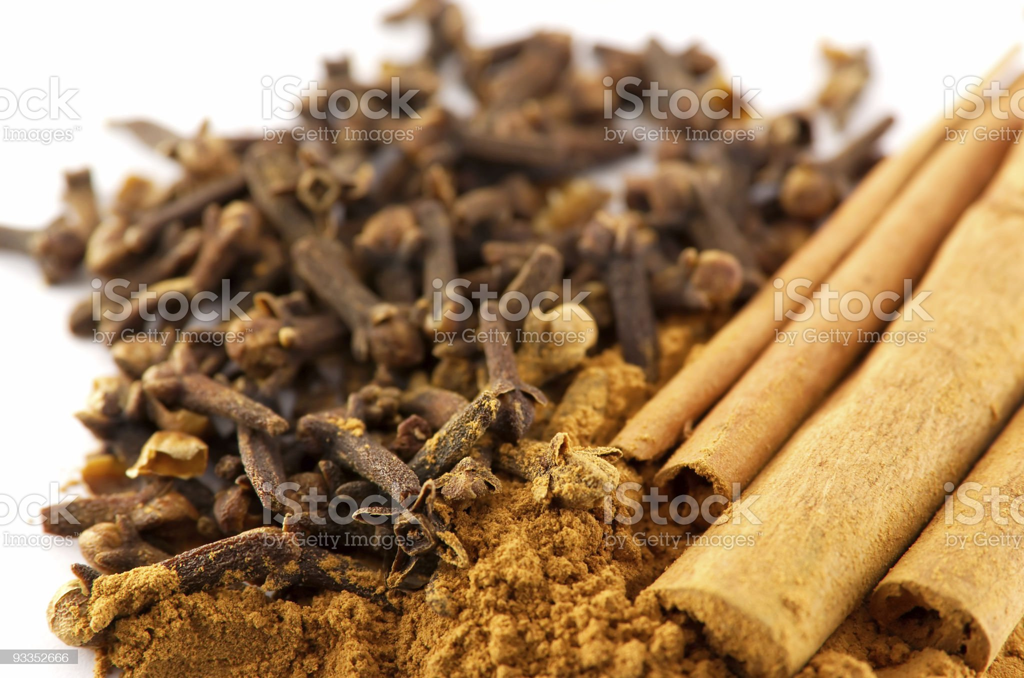 Cinnamon and clove royalty-free stock photo