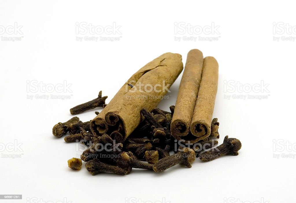 Cinnamon and Cloves royalty-free stock photo