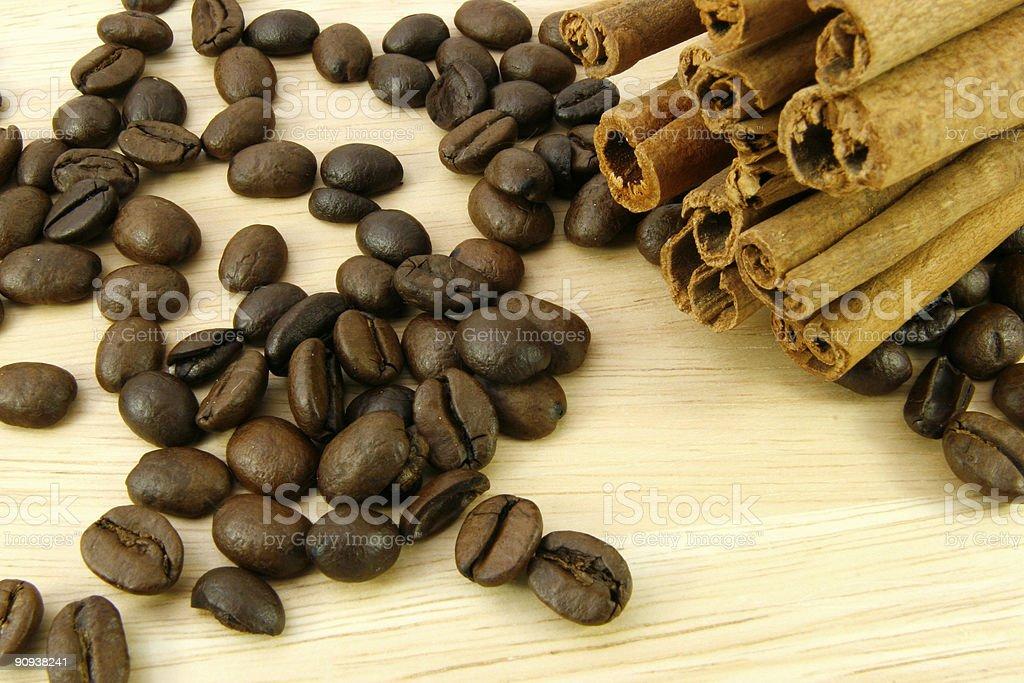 cinnamon and coffee stock photo
