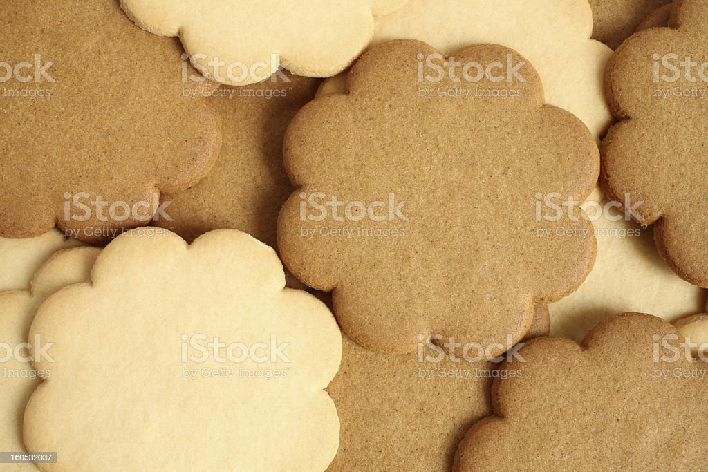 Cinnamon and milky cookies royalty-free stock photo