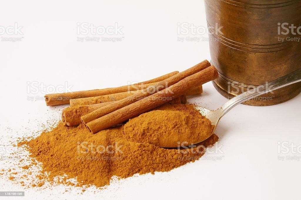 cinnamon and montar royalty-free stock photo