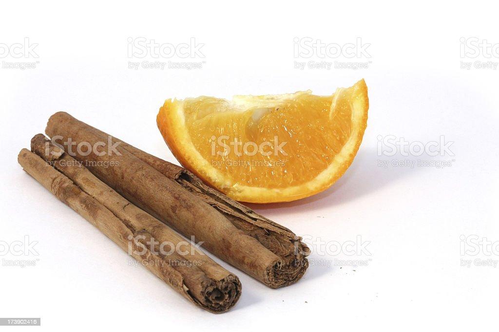 cinnamon and orange segment royalty-free stock photo