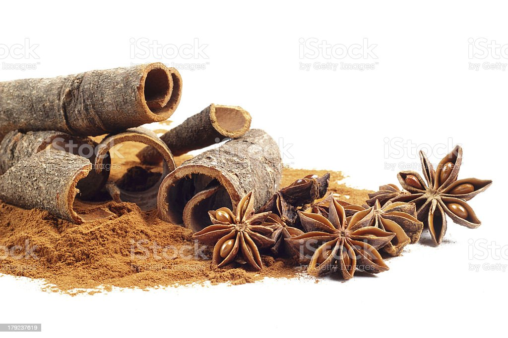 cinnamon and star anise royalty-free stock photo
