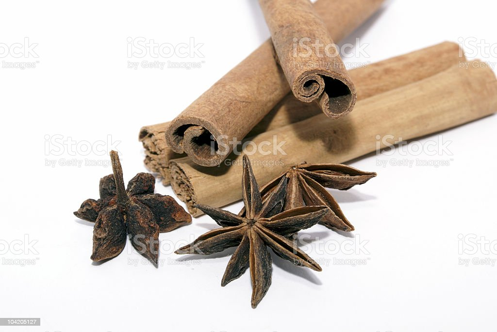 Cinnamon and star-anise royalty-free stock photo