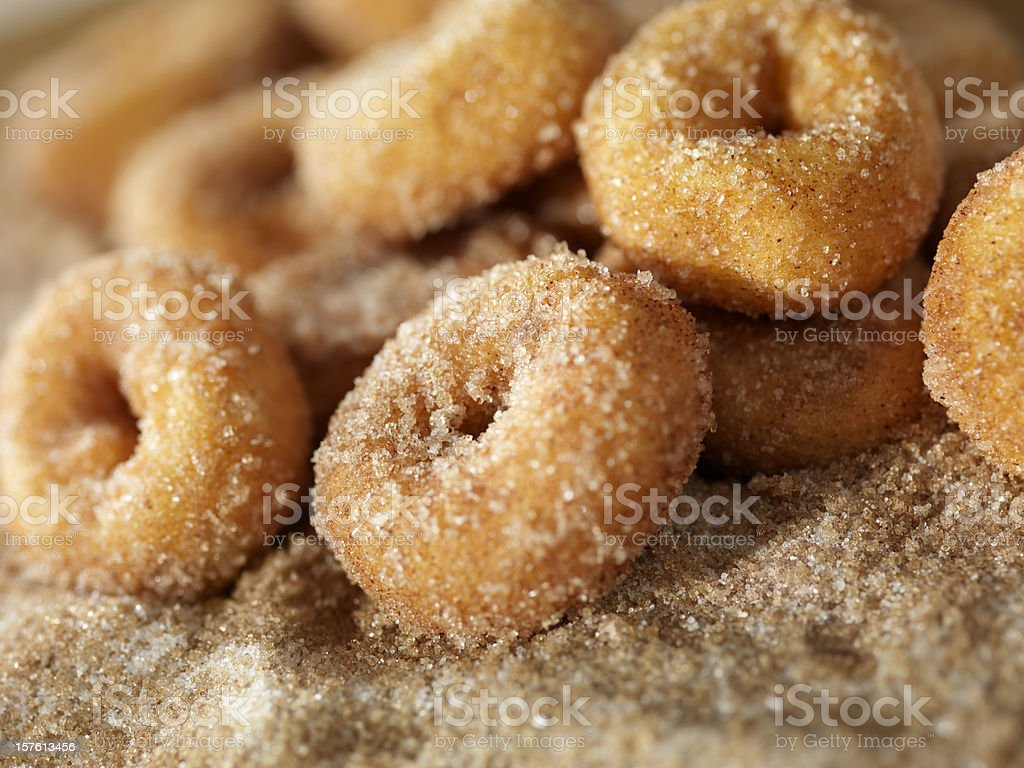 Cinnamon and Sugar Mini Donuts stock photo