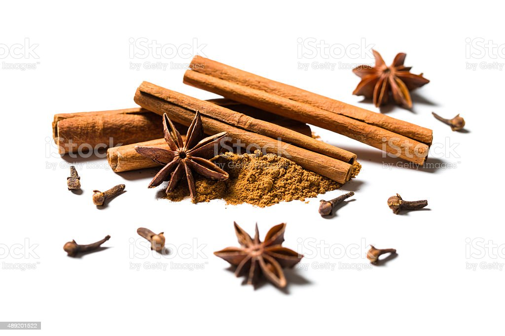 cinnamon, anise and cloves stock photo