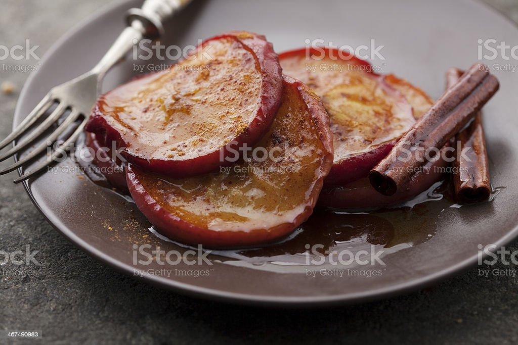 cinnamon  apples stock photo
