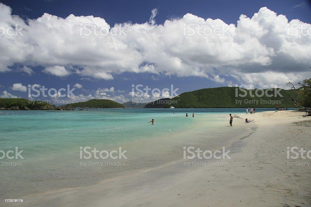Cinnamon Bay on St. John royalty-free stock photo