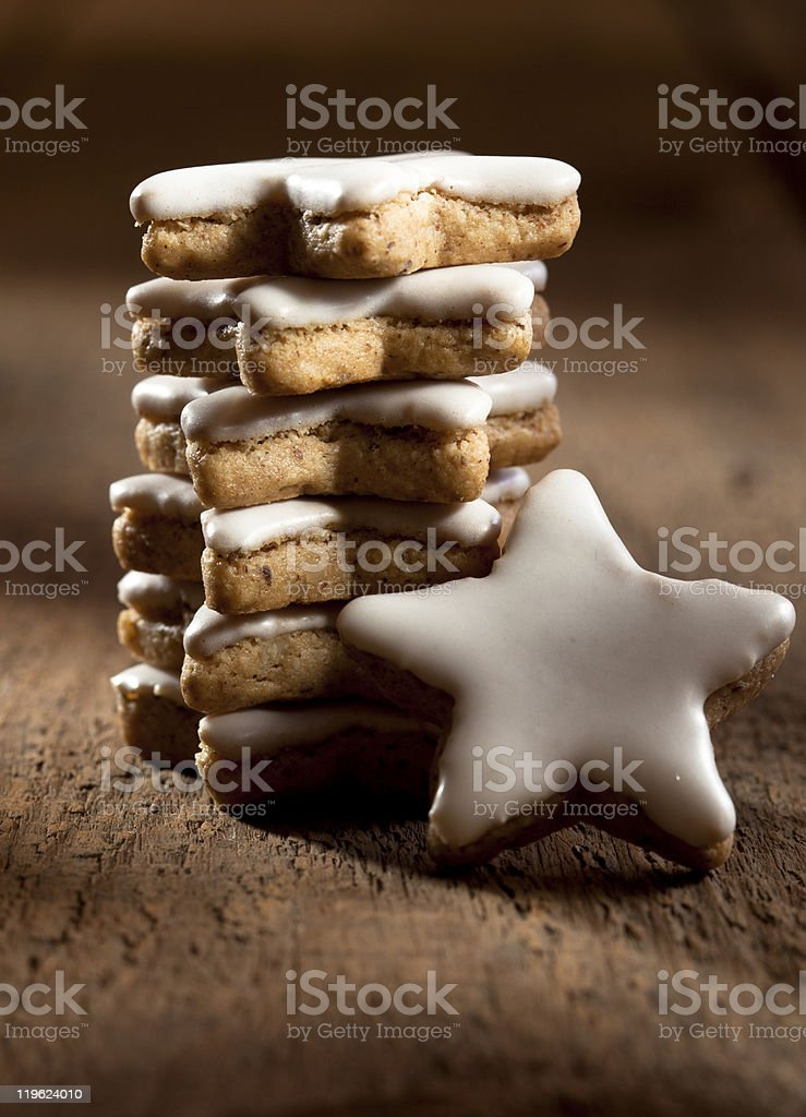 Cinnamon biscuits / cookies stock photo