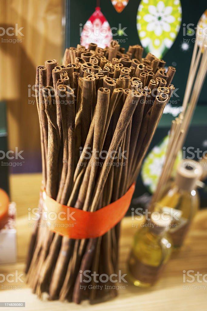 Cinnamon bunch royalty-free stock photo