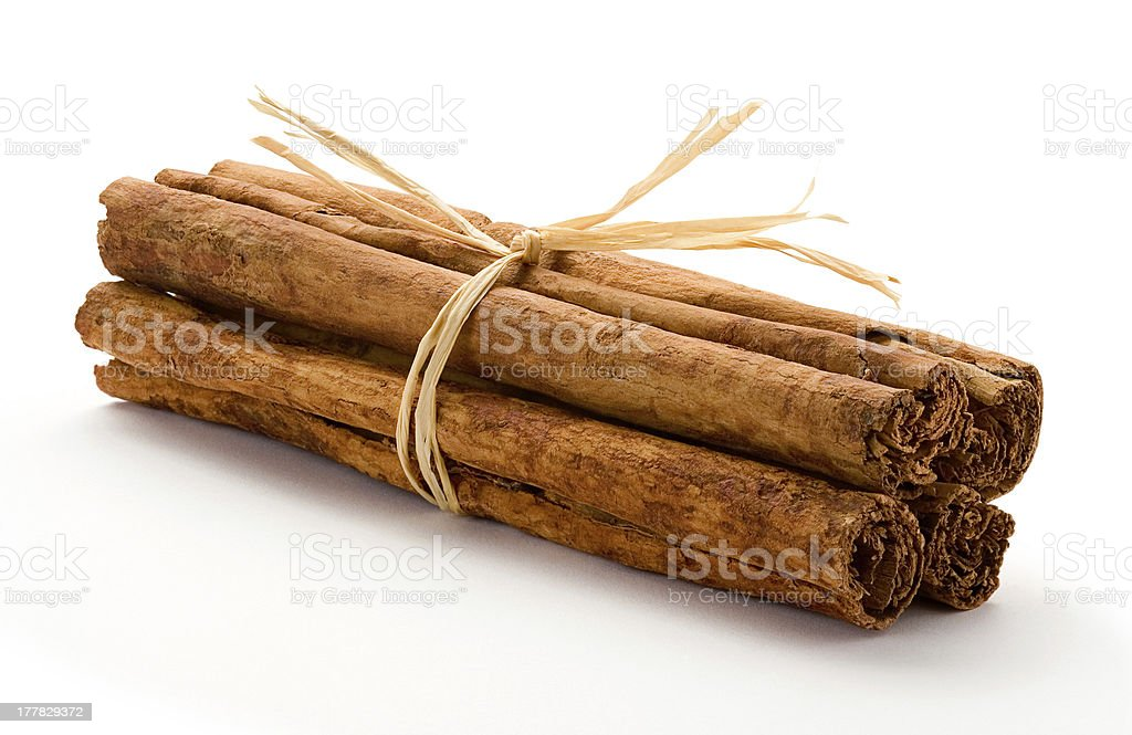 Cinnamon Bundle Isolated on white royalty-free stock photo