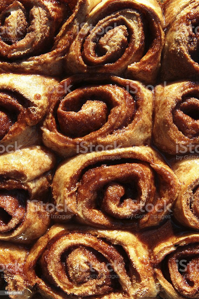 Cinnamon Buns Background royalty-free stock photo