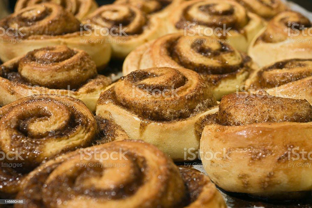 cinnamon buns royalty-free stock photo