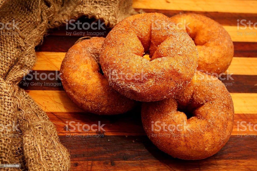 Cinnamon Donuts stock photo