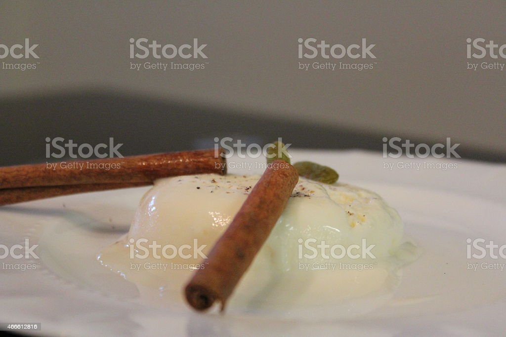 cinnamon mint Ice cream royalty-free stock photo