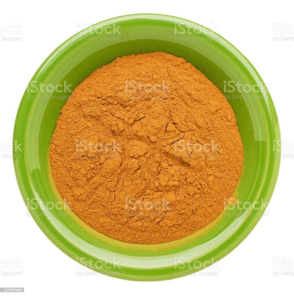 cinnamon (cassia)  powder stock photo