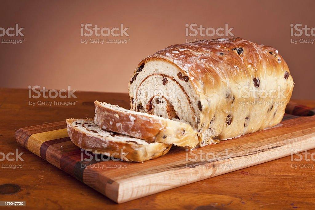 Cinnamon Raisen Bread royalty-free stock photo