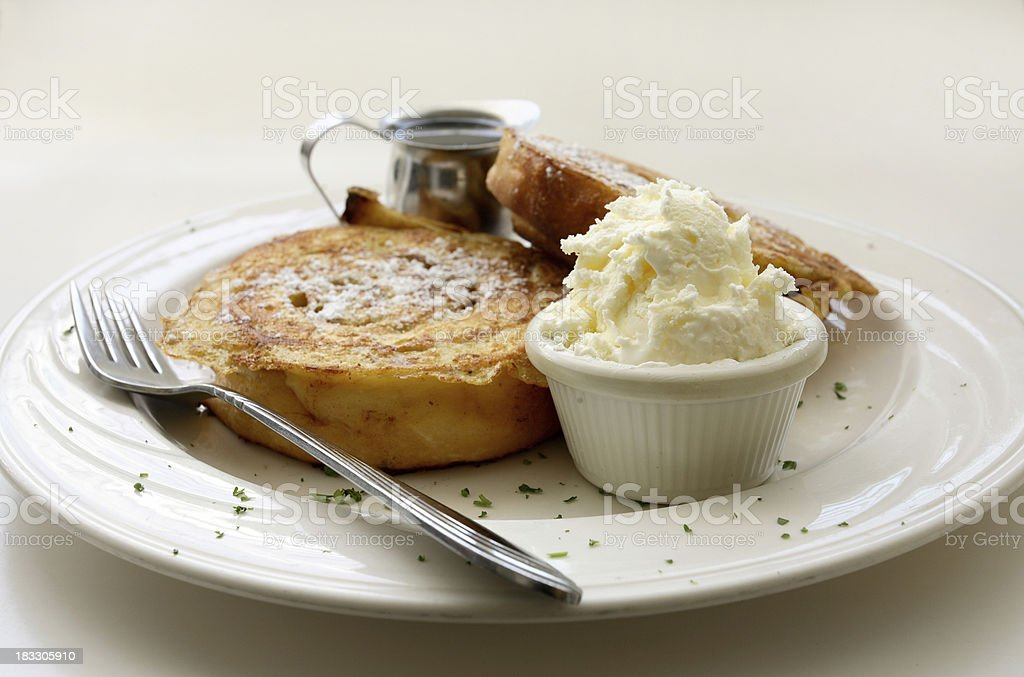 Cinnamon Roll French Toast stock photo
