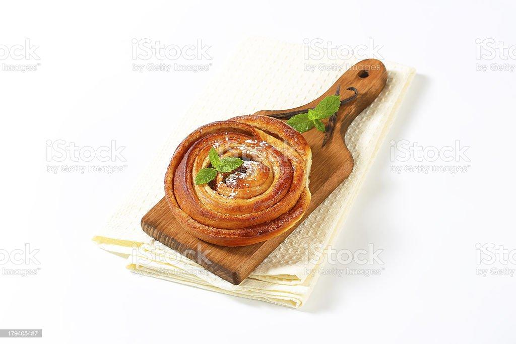 cinnamon roll royalty-free stock photo