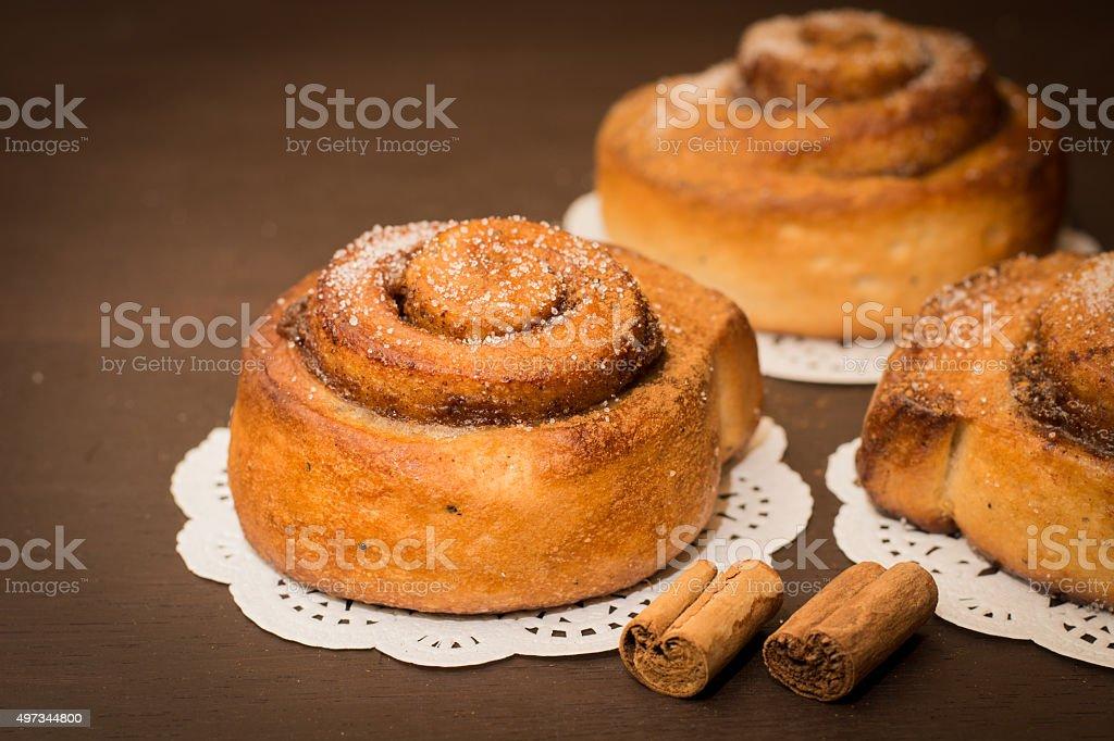 Cinnamon roll stock photo