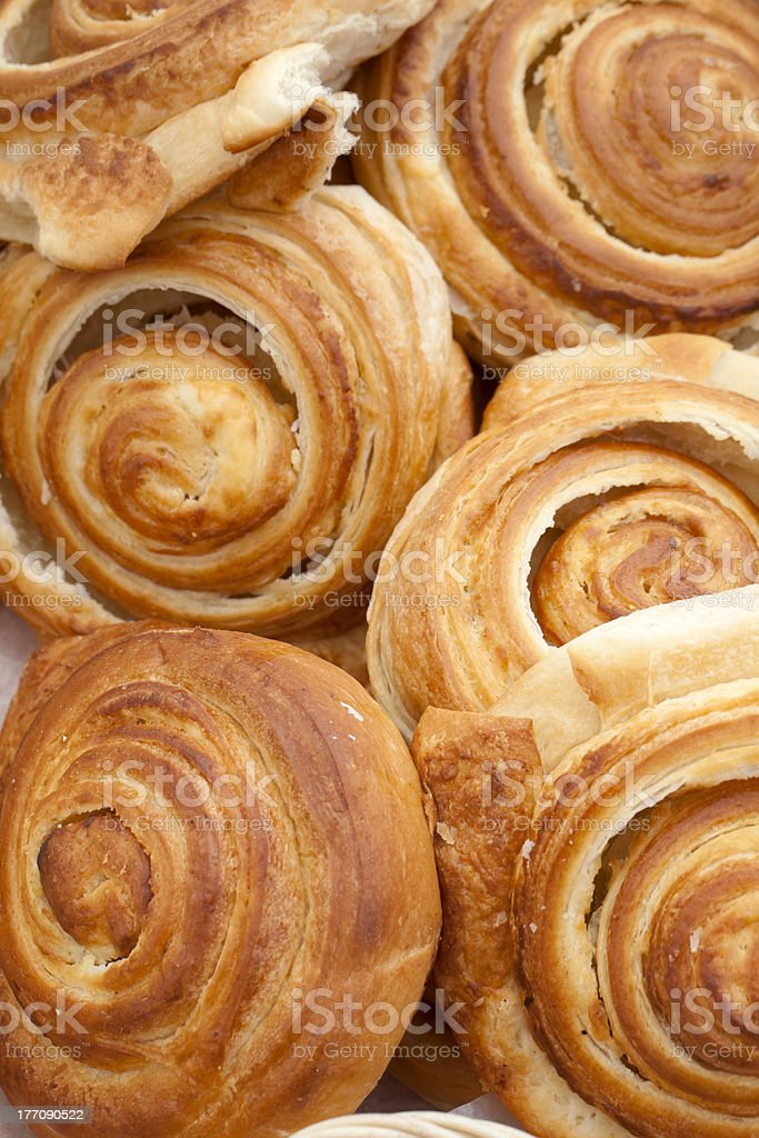 Cinnamon Rolls  (close-up) royalty-free stock photo