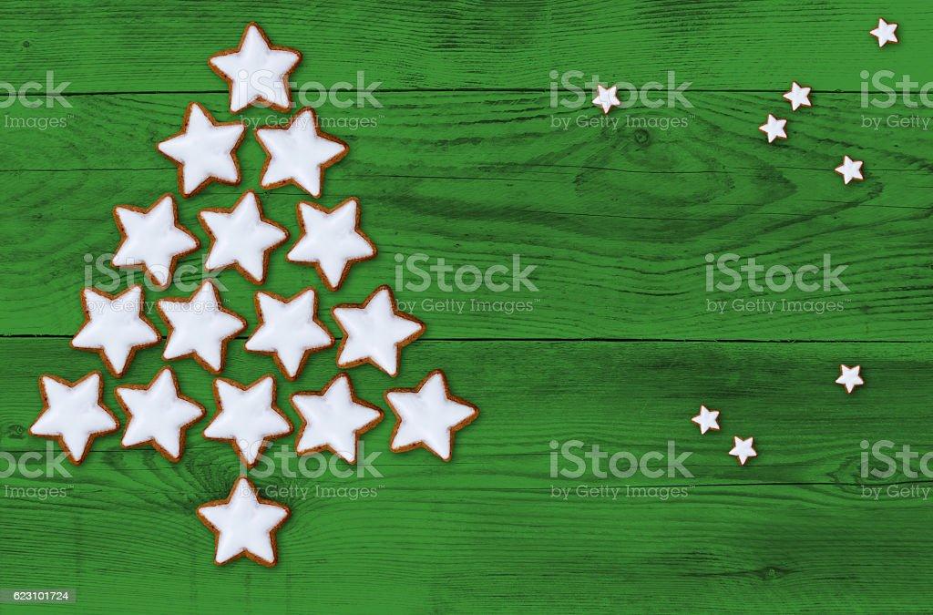 Cinnamon stars Christmas tree Christmas concept stock photo