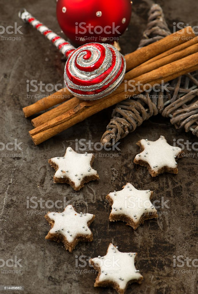 Cinnamon stars stock photo