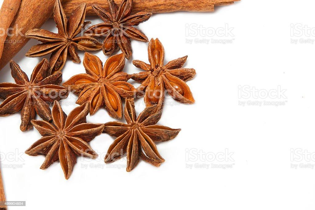 cinnamon sticks and star anise stock photo